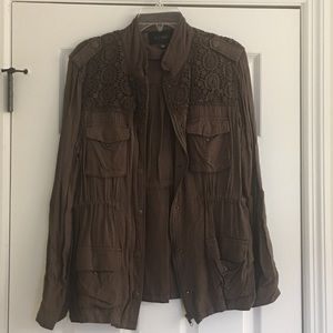 Lace brown jacket